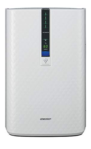 Sharp Triple Action Plasmacluster Air Purifier with Humidifying Function (254 sq. ft.), KC-850U , White