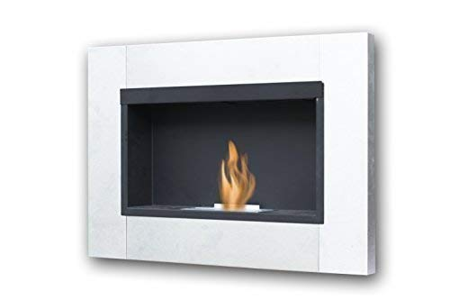 DRULINE 5 Different Luxury Bio Ethanol Fireplace Gel Wall Cheminee - Stainless Steel, 1 Brenner