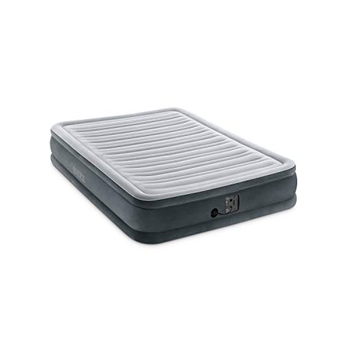 Intex Comfort Plush Mid Rise Dura-Beam Airbed with Internal Electric Pump, Bed Height 13', Full