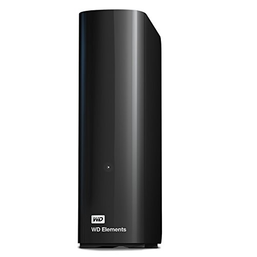 Western Digital WD Elements Hard Disk Esterno, Desktop, USB 3.0, 10 TB, Nero
