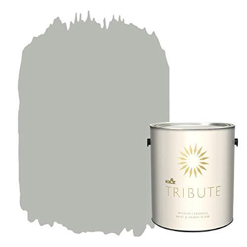 KILZ TRIBUTE Interior Eggshell Paint and Primer in One, 1 Gallon, Patio Gray (TB-64)