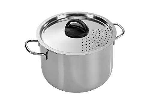 Barazzoni Spaghettitopf zum einfachen Abgießen, aus Edelstahl, 22 cm, 6 Liter