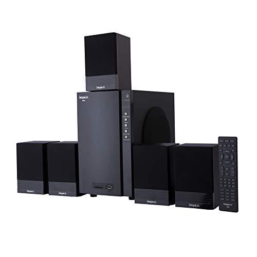 Impex BRIO 50 Watts 5.1 Channel Multimedia Speaker System with USB/SD/MMC Card/Bluetooth/FM Radio &...