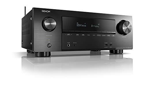 Denon AVR-X2600H DAB 7.2-Kanal AV-Receiver, Hifi Verstärker, Alexa Kompatibel, 8 HDMI Eingänge und 2 Ausgänge, DAB+, Bluetooth und WLAN, Musikstreaming, Dolby Atmos, AirPlay 2, HEOS Multiroom