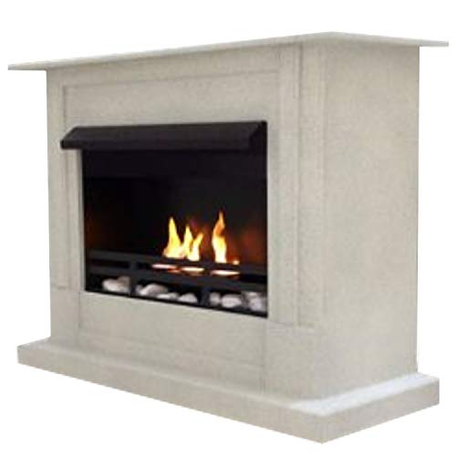 Gel + Ethanol Fireplace Emily Deluxe Inclusive: 1 Adjustable stainless-steel burner- Choose from 9 colors (Granit hell)