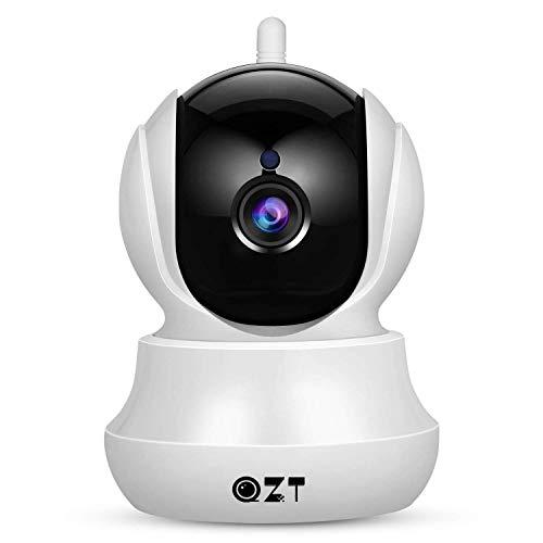 Telecamera IP 1080P, QZT Telecamera Sorveglianza WiFi Interno Senza Fili, Baby Monitor, con Visione Notturna, Motion Detection, Audio Bidirezionale, Allarme via Email