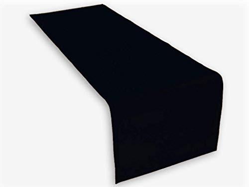 Lemos-Home Runner da Tavolo in Cotone, 45 x 150 mm, Nero, 45 x 150 cm