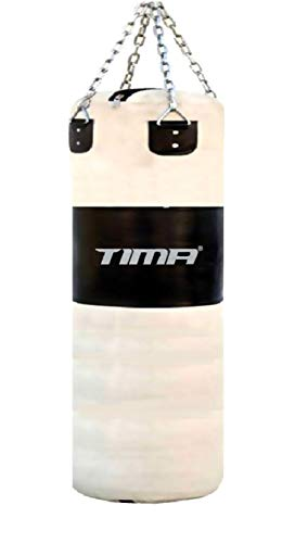 """Tima Heavy Duty Punching Bag with Chains Unfilled (48 Inches Long with Chains, 36"""" Without Chains..."""
