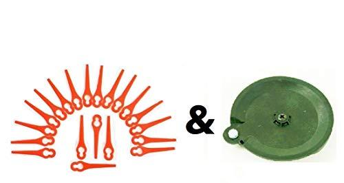 20 Lame e 1 disco di taglio per il vostro decespugliatore Florabest LIDL FAT 18 B2 e FAT 18 B3 IAN 71315 / 86154 795940 / 102971 / 273039.