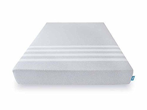 "Leesa 10"" Memory Foam Mattress in a Box, Luxury CertiPUR-US Certified 3 Layer Foam Construction, Twin XL, Gray & White"