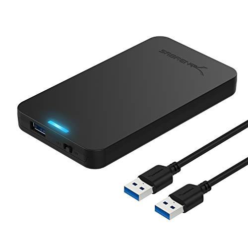 Sabrent Custodia per Disco Rigido da 2,5 Pollici SATA a USB 3.0 [Ottimizzato per SSD, Supporto UASP...