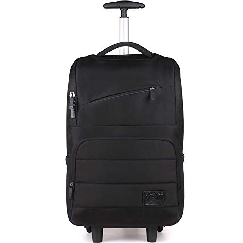 LRLANI Trolley für Laptops, Herren- und Damen-Trolley, leichte Reisetasche, wasserdichter Reisekoffer-black
