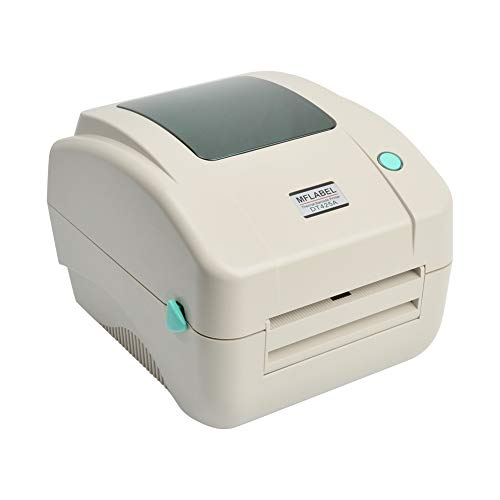 MFLABEL White Color 4x6 Thermal Printer, Commercial Direct Thermal High Speed USB Port Label Writer Machine??