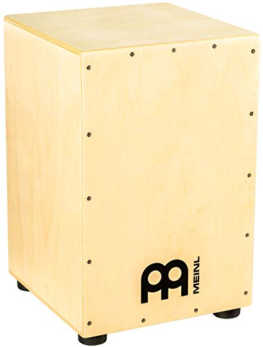 Meinl Cajon Box Drum, Full Size with Internal Metal Strings for Adjustable Snare Effect, Birch Wood, HCAJ1NT