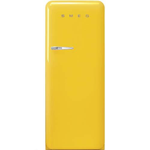 Smeg Frigorifero monoporta anni'50 FAB28RYW3 finitura giallo da 60 cm cerniera a DX