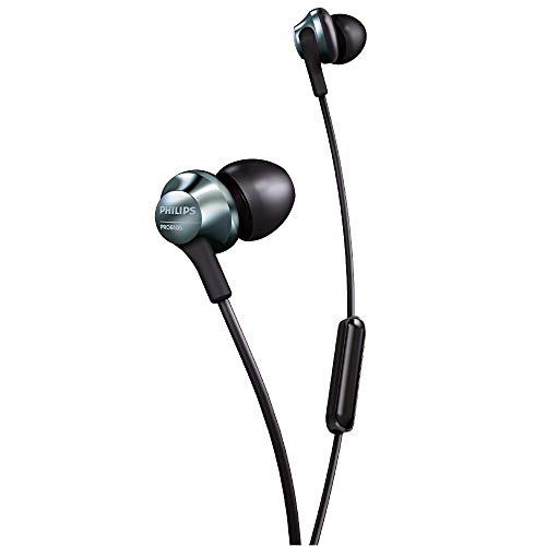 Philips Audio Hi-Res Audio PRO6105BK in-Ear Headphones with Mic (Black)