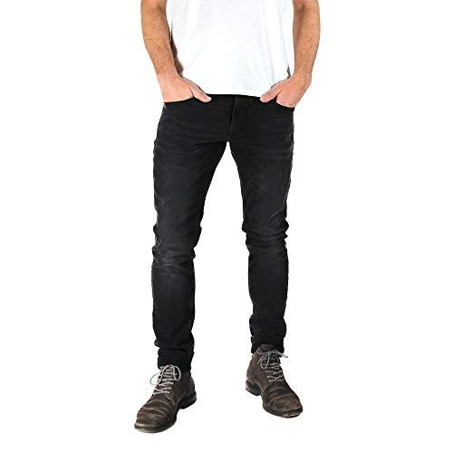 Kuyichi Herren Jeans Kale Skinny Bio-Baumwolle, Black Used, 33/32