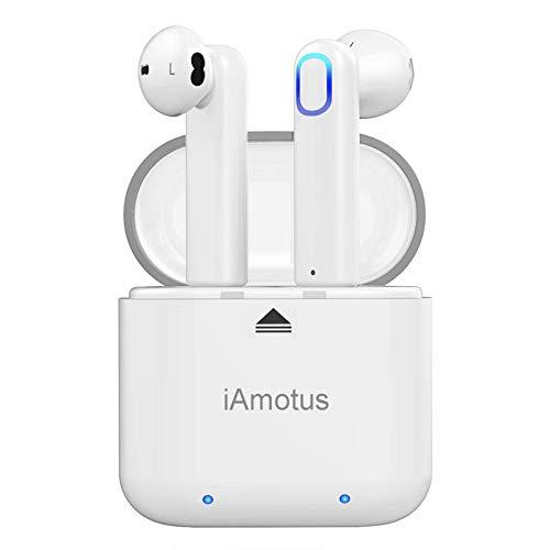 Auriculares Bluetooth, iAmotus Auriculares Inalámbricos Bluetooth 5.0 In-Ear Deportivos Auriculares TWS Wireless Bluetooth Control Rapida Resistente al Agua con Caja de Carga para iPhone y Android