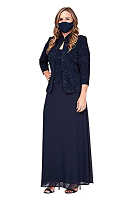 Jacquard knit Jacket dress This style is available in Regular, Plus Size and Petite on Amazon.com Sleeveless high-neck long dress