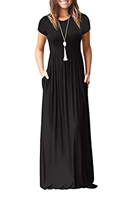 Occasions: casual, vacation, beach, street, work, party, club, pregnancy, daily wear, outdoor in spring,summer,fall. This long dress is perfect to pair with your high heels,sandals,belt or jacket in a cold weather. Can be easily dress up or dress dow...