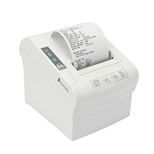 Stampante Termica 80mm per Ricevute, Stampante Pos 300 mm/sec USB/Seriale/LAN/Cassetto Contanti con...