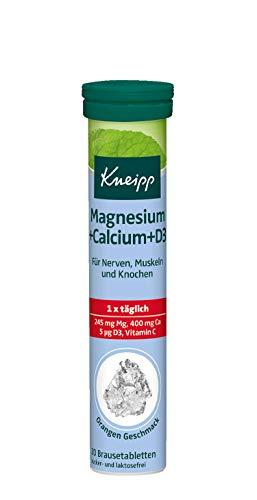 Kneipp Magnesium + Calcium + D3 Brausetabletten, Für Nerven, Muskeln und Knochen