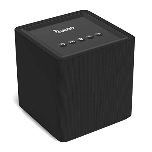 eBIRD WLAN-Lautsprecher mit Chromecast Built-in für kabelloses Musikstreaming   kompatibel mit Android und iOS   Multiroom fähig   Google Home   Spotify Connect   10 Watt Box   schwarz