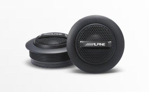 Alpine SPS-110TW Type-S 1 Silk Dome Tweeter Set