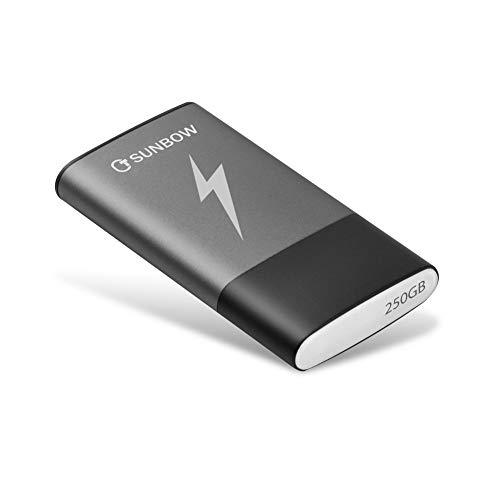 TCSUNBOW SSD portatile da 250 GB SSD esterno da 250 GB Unit a stato solido con interfaccia USB di...