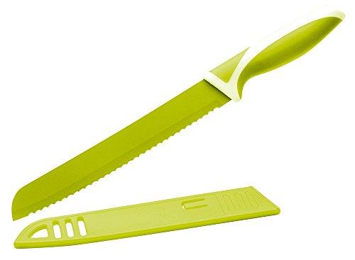 Eliplast Linea Cucina Coltello per Pane, Acciaio Inossidabile, Verde Lime, 32.5x2x3.5 cm