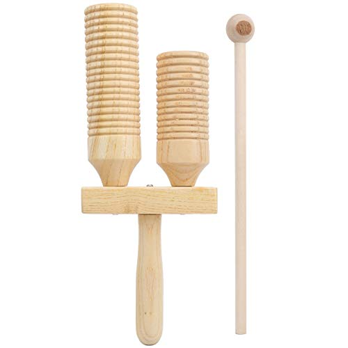 Tubo Sonoro in Legno Strumenti Musicali per Bambini Strumenti a Percussione con Tubo Sonoro Educazione Precoce Musical per Ragazzi e Ragazze
