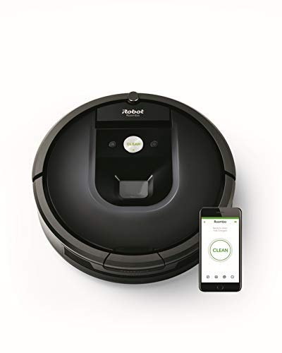 iRobot Roomba 981 Robot aspirapolvere WiFi, Power-Lifting, 2 spazzole in gomma multi-superficie,...