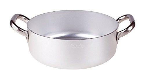 Pentole Agnelli Agnelli Alluminio Professionale, 3.4 L, Acciaio Inossidabile, Argento, 22 cm