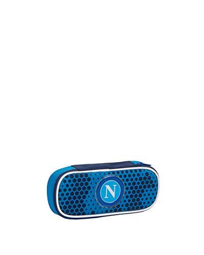 ssc napoli Portapenne Round Plus Napoli Live Match, Blu, Scuola & Tempo Libero, Unisex Bambini, Unica
