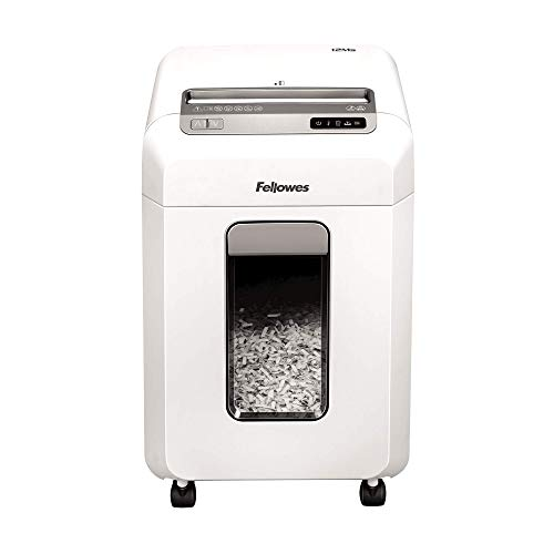 Fellowes Powershred 12Ms, destructeur de documents mini-coupe 12 feuilles pour petites entreprises/bureaux à domicile équipé de la technologie SafeSense, corbeille extractible 23L, 4630301
