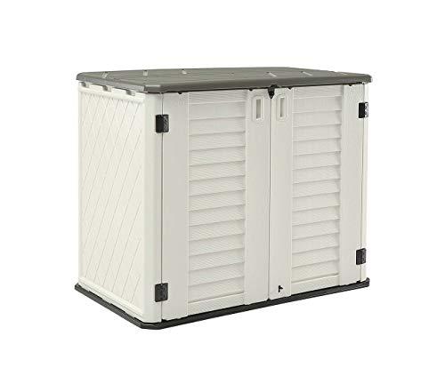 HOMSPARK Horizontal Storage Shed Weather Resistance, Multi-Purpose...
