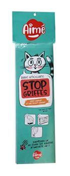 Aime Stop Griffes, Bandes Adhésives Anti-Griffes pour chat, 24 Bandes Autocollantes et Invisibles