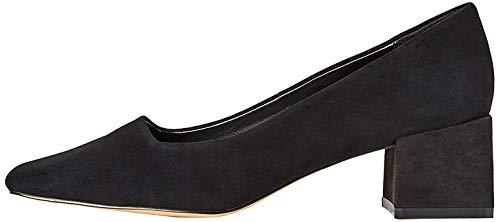find. Block Heel Suede Zapatos de Tacón, Negro Black, 36 EU