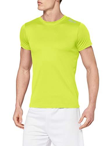 Rogelli Promo - Maglietta da Running a Maniche Corte, da Adulto Giallo Yellow - Fluor S
