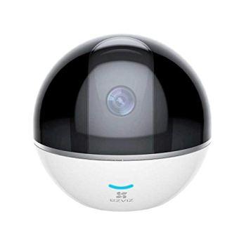 EZVIZ C6T Caméra Surveillance WiFi Intérieure 1080P, Camera ip Wi-Fi & Ethernet 360 ° Pan/Tilt, Vision Nocturne, Suivi de Mouvement Intelligent, Audio Bidirectionnel, Mode Vie Privé