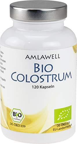 Amlawell Bio Colostrum / 120 Kapseln / 600mg Colostrum Pulver mit hohem IgG-Gehalt