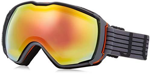 Julbo Aerospace Photochromic Snow Goggles with Ultra Venting Superflow Technology No Fogging - Zebra Light Red - Dark Grey/Orange