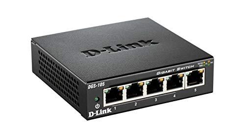 D-Link DGS-105 Switch 5 Porte Gigabit, Struttura...