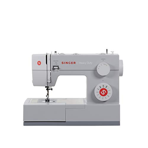 SINGER Heavy Duty Sewing Machine With Included Accessory Kit, 69 Stitch Applications 4411, Beginner Friendly, Grey