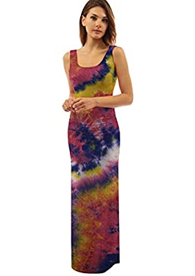 Materiel:Polyester and Spandex Blend,Comfy And Fashion to Wear. Features:Scoop Neck, Sleeveless, Solid Color , Stretch Waist ,Tunic Tank Long Dress, Pullover, Split Hem Occasion:Suitable Club , Party ,Evening , Holiday Wear , Casual Wear Package Cont...