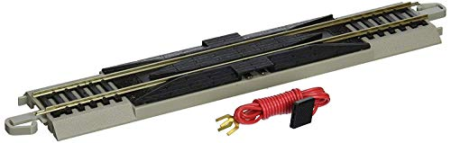 Bachmann-Trains-Snap-Fit-E-Z-Track-9-Straight-Terminal-Rerailer-wWire-1card-Nickel-Silver-Rail-With-Gray-Roadbed-HO-Scale