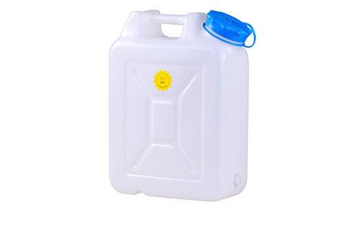 hünersdorff Weithalskanister / Abklärkanister / Mehrzweckkanister mit großer Öffnung zur einfachen Innenreinigung, 22 Liter, UV-Schutz, Made in Germany