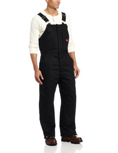 Dickies Men's Insulated Bib Overall, Black, Medium-Regular