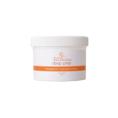 Rolyan Deep Prep Therapeutic Massage Cream, 8 oz