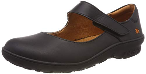 Art Antibes, Zapatos Planos Mary Jane Mujer, Negro (Black), 42 EU